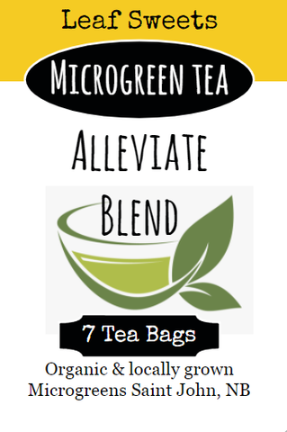 Alleviate Blend Microgreen Tea - By Leaf Sweets