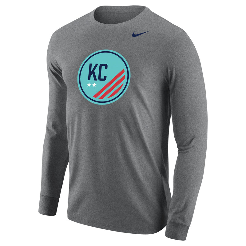 Cotton Long Sleeve Logo Tee