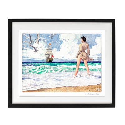 In riva al mare - Signature Art Print