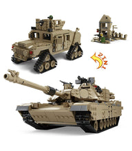 Load image into Gallery viewer, KAZI M1A2 Abrams Tank Hummer 2-in-1 Military Building Blocks Toy Set