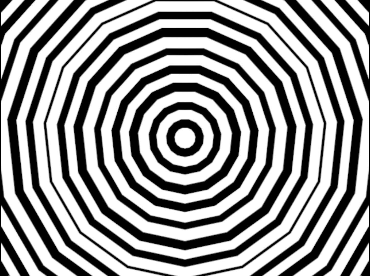 Royalty Free Video VJ Loops: B&W Throbbing Concentric Rings