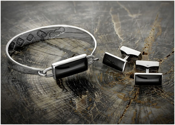 sterling-silver-whitby-jet-bangle-cufflinks