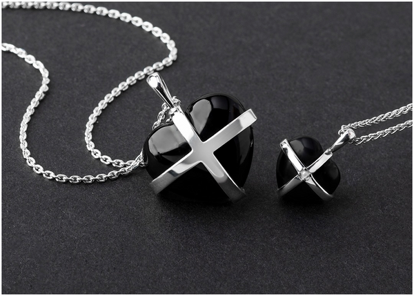 sterling-silver-whitby-jet-cross-heart-necklaces
