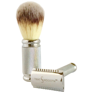SHAVING SETS - That's Smoooth Classic Razor & Brush Set