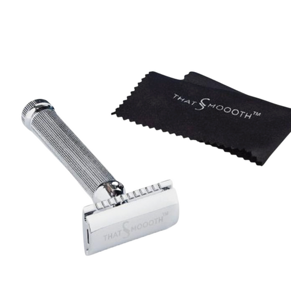 Classic Two-Piece Single Blade Safety Razor (Rasurador Clásico Con Navaja De Doble Filo)