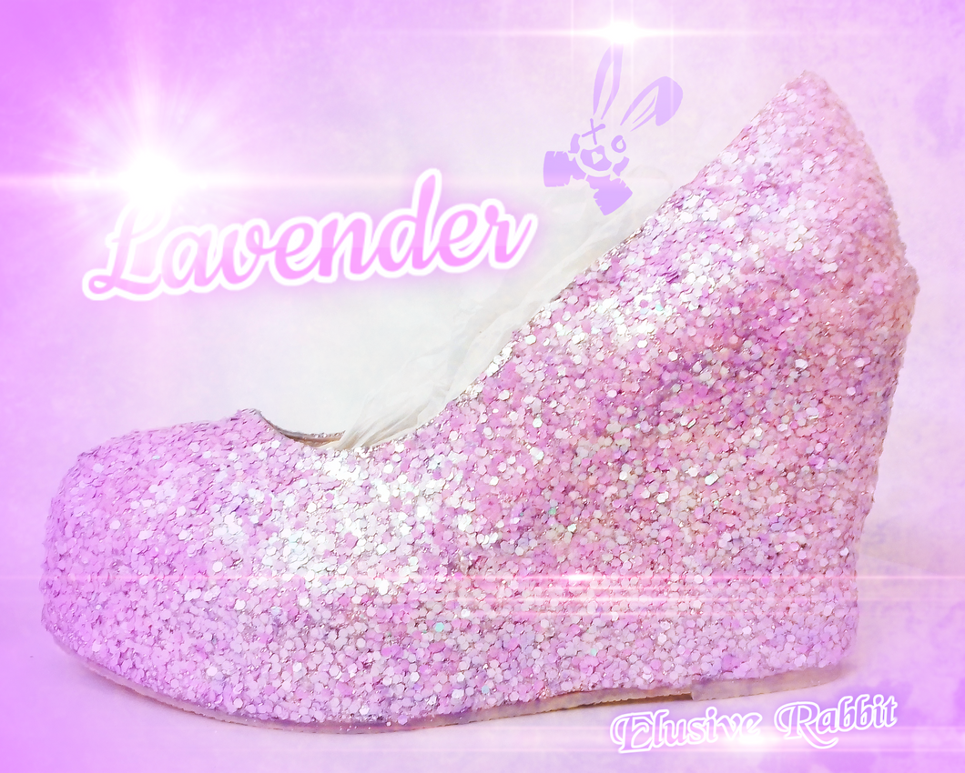Lilac Lavender Bridal  Chunky Glitter Wedding Custom Personalized Women Peep Toe Glitter Shoe High Heel Stiletto Thin Size 3 4 5 6 7 8