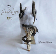 Lade das Bild in den Galerie-Viewer, The Jackalope Heels Antlers Horn Fawn Fur White Rabbit Bunny Custom Kraken Sculpt Paint Shoe Size 3 4 5 6 7 8  High Wedge Mythical Deer Stag