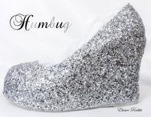 Load image into Gallery viewer, Silver Black Bridal  Chunky Glitter Wedding Custom Personalized Women Peep Toe Glitter Shoe High Heel Stiletto Thin Size 3 4 5 6 7 8