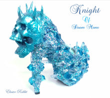 Cargar imagen en el visor de la galería, Knight of Doom Mons Heels Blue crystal Quartz Diamond Custom Hand Sculpt Kraken Shoe Size 3 4 5 6 7 8 Glitter Fantasy Bridal Wedding