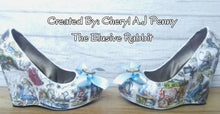 Load image into Gallery viewer, DIY Bride Alice in Wonderland Starter Kit Decoupage Heels Wedding Shoes Custom Gift Set Box Keepsake Favour Bridesmaid Make your own Budget