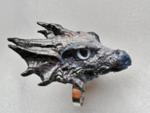 Lade das Bild in den Galerie-Viewer, Dragon Head Ring Custom Hand Sculpt Paint Red Black Blue Gold Silver Adjustable Mens Womens Unisex Jewelry goth gothic alternative fashion