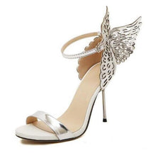 Carica l'immagine nel visualizzatore di Gallery, New Women pumps Butterfly Wings single shoes for women sexy peep toe high heel sandals party wedding shoes woman sandals