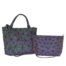Cargar imagen en el visor de la galería, Women Handbags 3 Pcs Bag Set Crossbody Bags For Women Geometric Luminous Shoulder Bag Female Purse And Handbag Tote Holographic