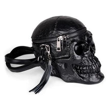 Load image into Gallery viewer, 3D Skull Gothic Women Bag Funny Skeleton Head Black handbad  Fashion Designer Satchel Package Bags