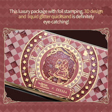 "Carica l'immagine nel visualizzatore di Gallery, British Museum 12-color Eyeshadow Palette ""Alice in Wonderland"" Series Quicksand Print Matte Glitter Eye Shadow Palette"