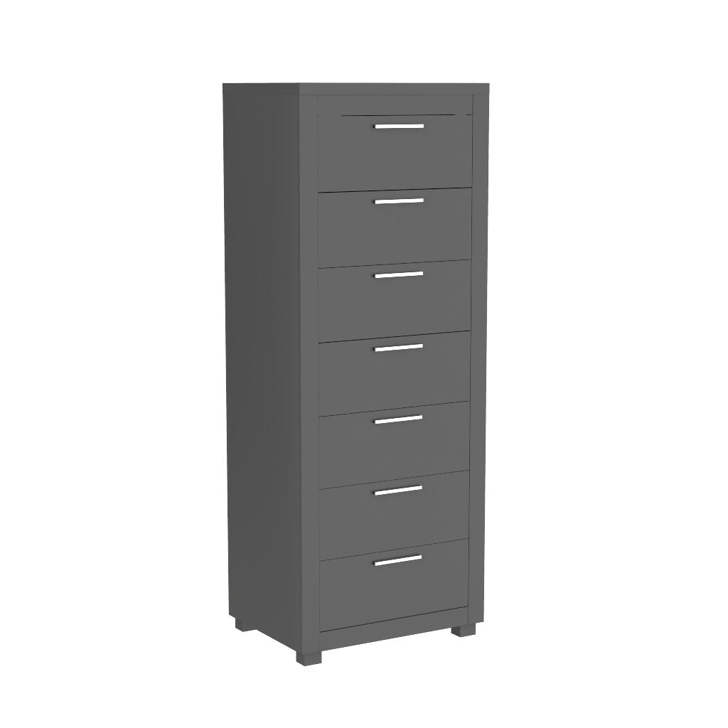 Standing Bureau - 7 drawer - Aria - Dark Gray