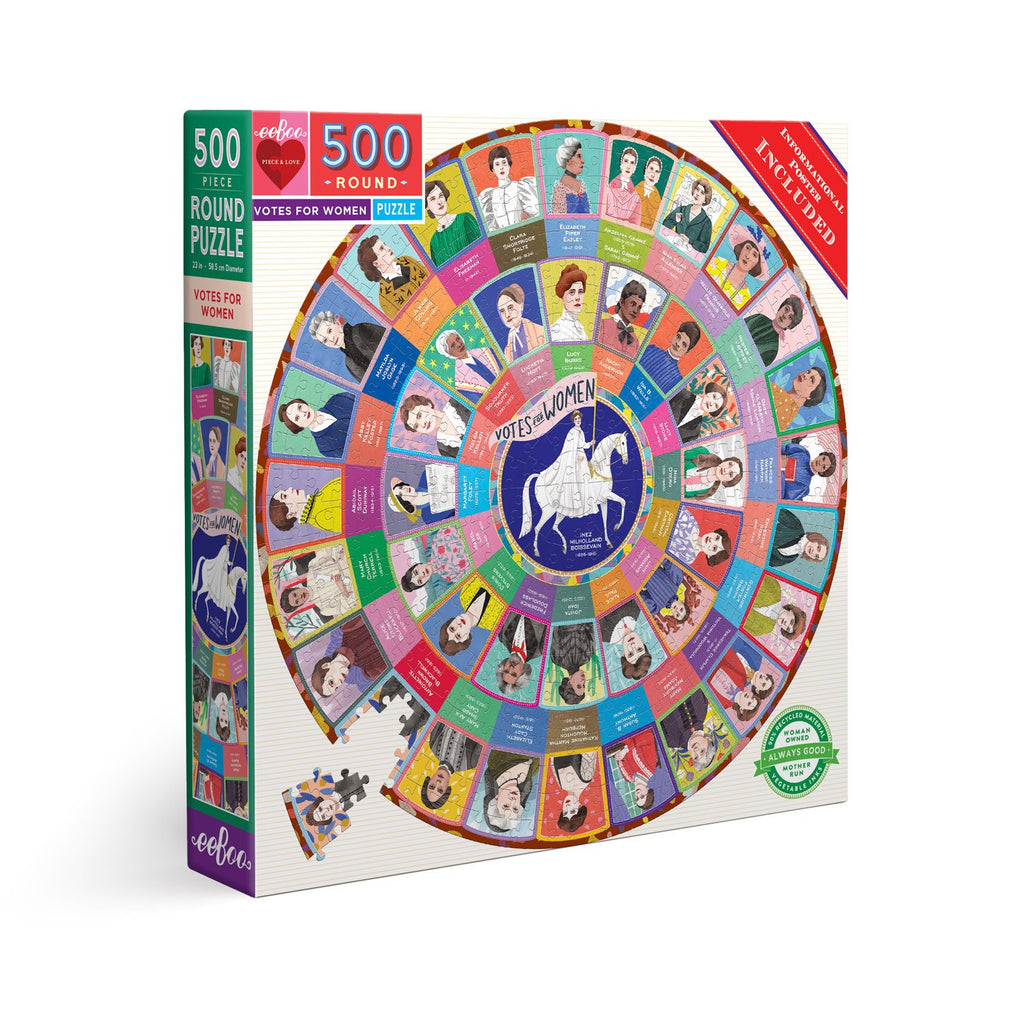 Votes for Women 500 Piece Round Puzzle