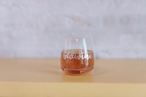 Bedwine Stemless Glass - Rose Gold - bedwine