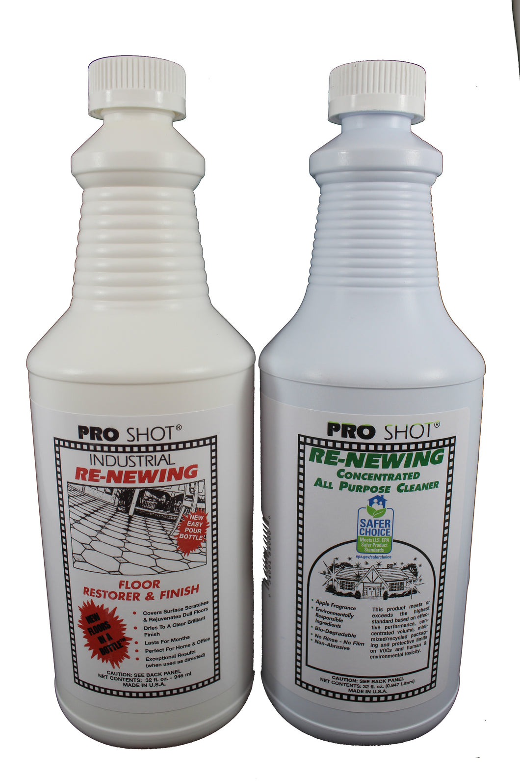 PRO SHOT® Floor Restorer & Finish 32 oz and PRO SHOT All Purpose Cleaner image