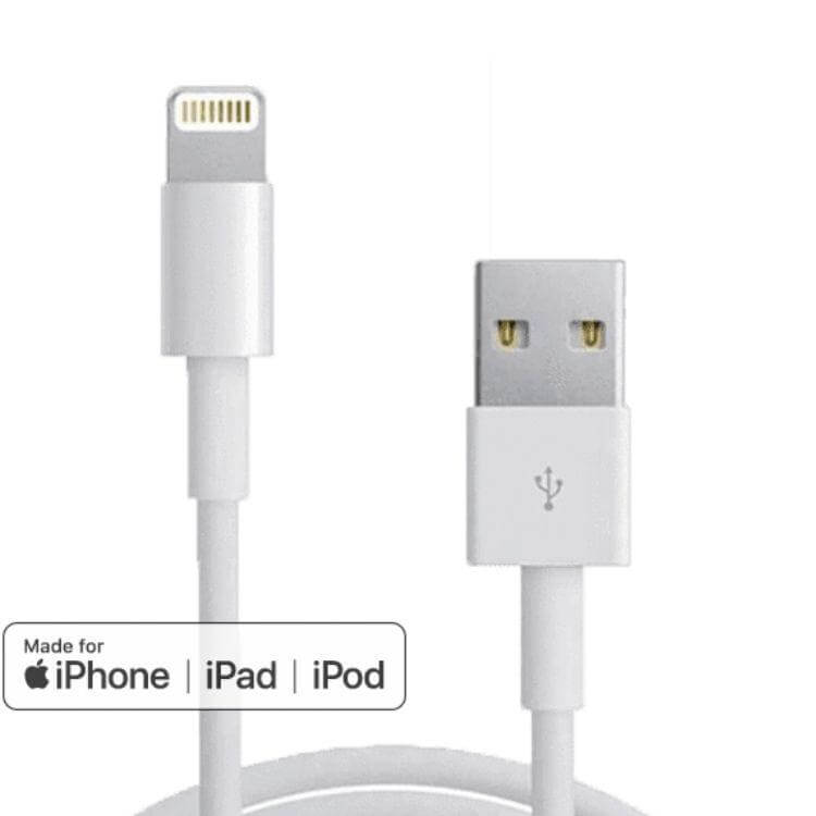 USB til lightning kabel - iPhone og iPad - LUXPHONE.DK