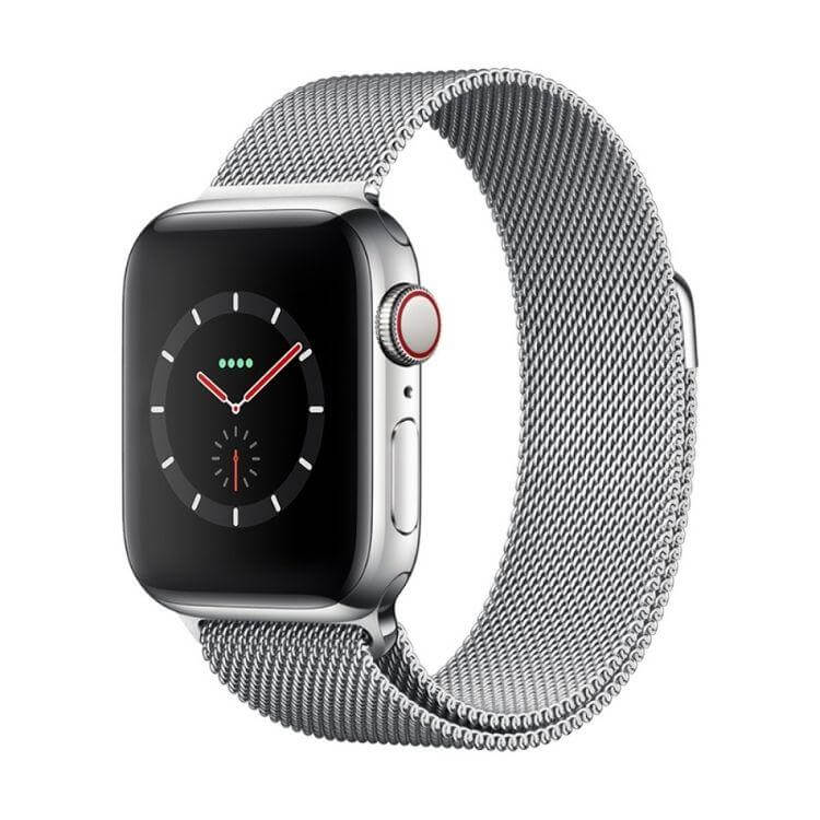 Milaneese loop Apple Watch - Sølv - LUXPHONE.DK