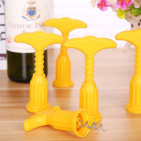 YELLOW PLASTINOX CORKSCREW/paaddycorkscrew