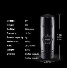 Load image into Gallery viewer, Portable Rechargeable Mini Coffee Maker