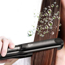 Load image into Gallery viewer, 2 In 1 Professional Crystal Ceramic Hair Straightener Flat Iron And Steam Comb