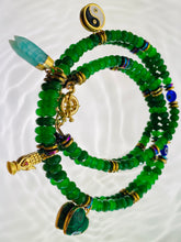 Load image into Gallery viewer, Green Agate Charm Necklace