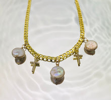 Load image into Gallery viewer, Divine Pearl Charm Choker