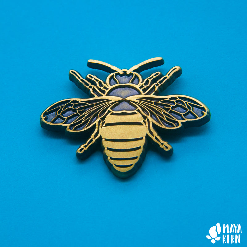 Antique Gold Bee Enamel Pin