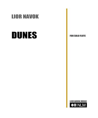 DUNES for unaccompanied flute [PDF download]