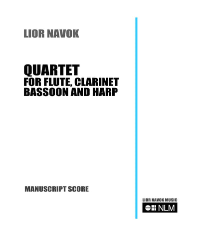 QUARTET FOR FLUTE, CLARINET, BASSOON AND HARP [booklet]