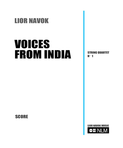 String Quartet Sheet Music. Voices from India - String Quartet with Indian motives, ragas and talas. Sheet music for string quartet, violin, viola and cello.