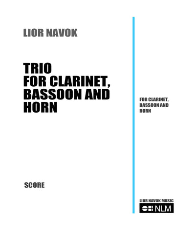 Sheet Music for clarinet, horn and bassoon. Trio clarinet, horn, bassoon sheet music. Trio with horn, trio with bassoon, chamber music with clarinet and bassoon, chamber music with horn and bassoon.