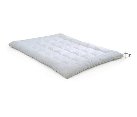 Soft 600 GSM Hollow Fibre Mattress  Padding Topper For, White  (72 x 36 Inch & 182 X 91 Cm)