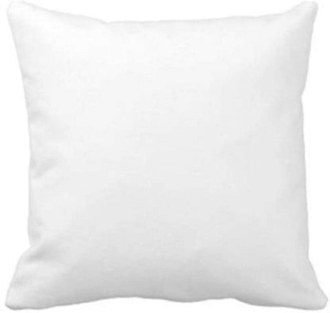 "Plain White Microfibre Cushions Vacuum Packed (16""x16"") 1 Pc Pack"
