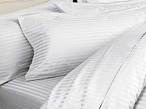 Cotton Soft Body Stripes Maternity Back Support Great for lounging, relaxing, sleeping pillow for Pregnancy with Cover, 20x54-inch ( 50 X 137 Cm)-White 1 Pc Pillow