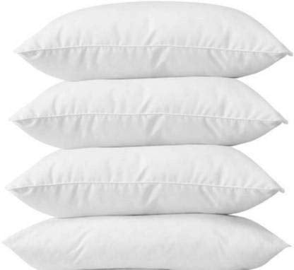 "Solid Sleeping White Rectangular Pillow (Pack of 4)  24""x16"" (60x40 cms)"