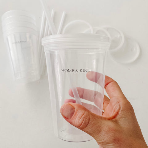 Reusable Kids Smoothie Cups