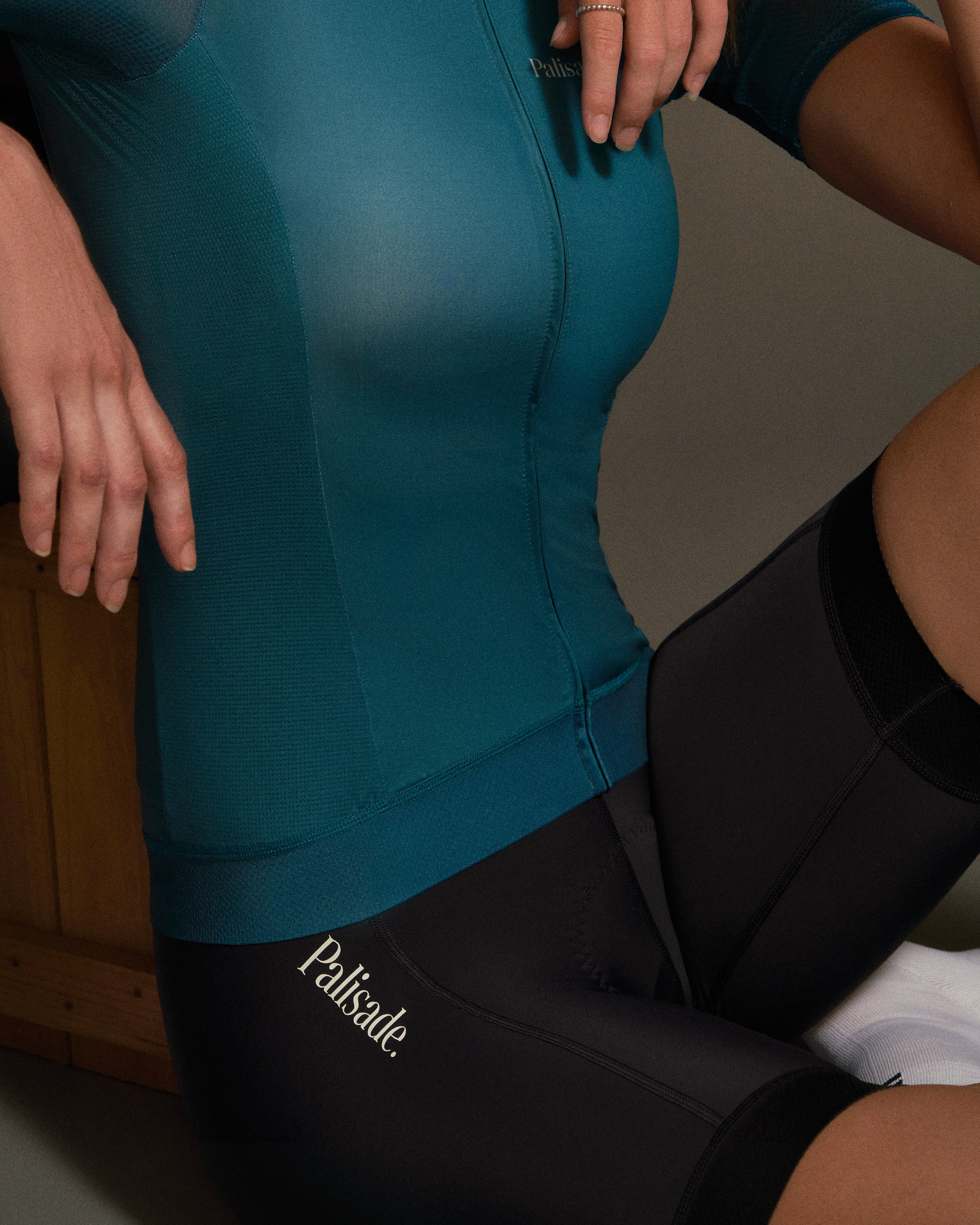 Sustainable womens jersey and bib shorts
