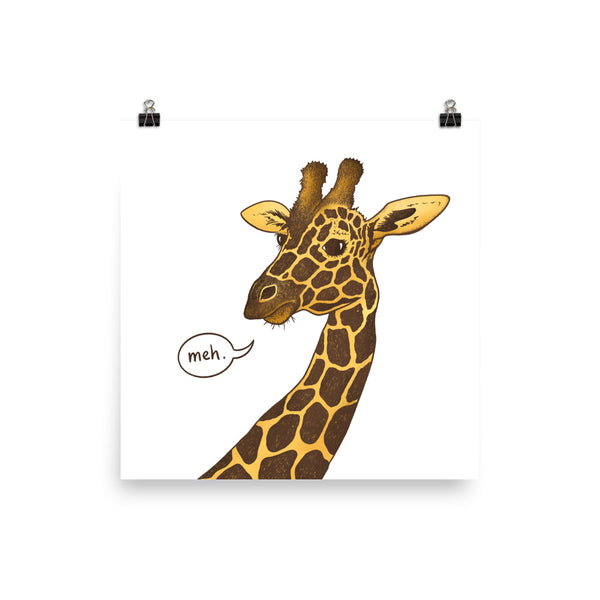 Unimpressed Giraffe Art Print