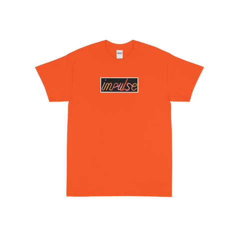 Orange Impulse Neon Logo T-Shirt