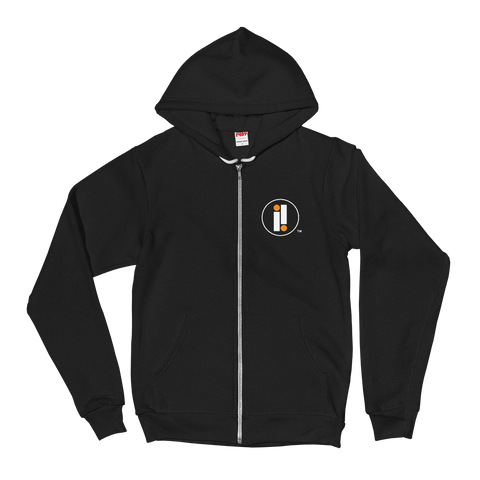 Black Impulse Iconic Double II Zip Up Sweatshirt