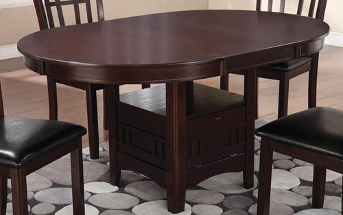 Lavon Transitional Warm Brown Dining Table image