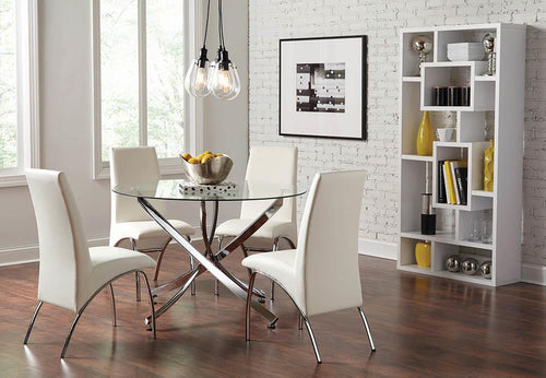 Walsh Contemporary Chrome Dining Table image