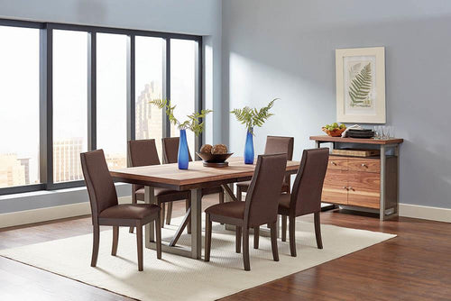 Spring Creek Industrial Natural Walnut Dining Table image