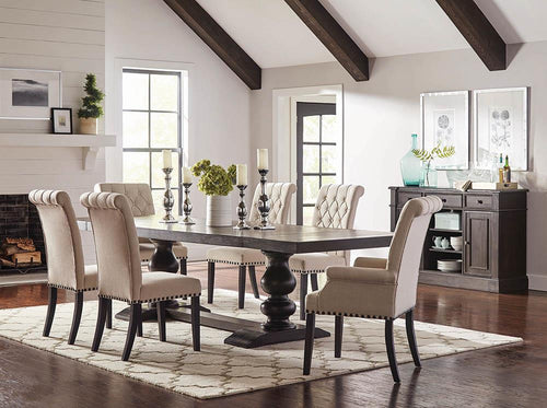 Phelps Traditional Antique Noir Dining Table image