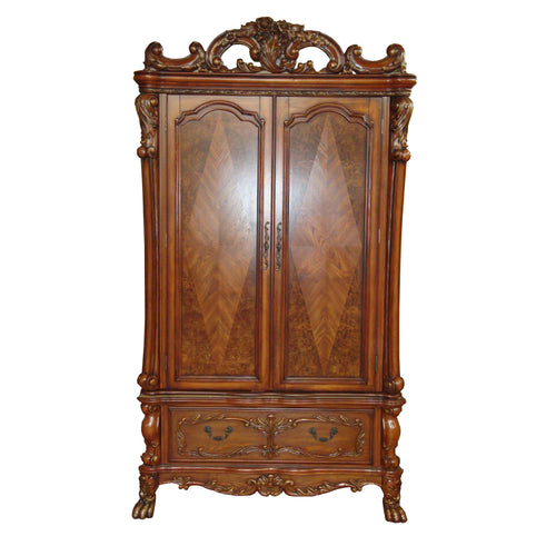 Dresden Cherry Oak TV Armoire image