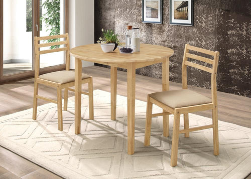 G130006 Casual Natural and Beige Three-Piece Dining Set image